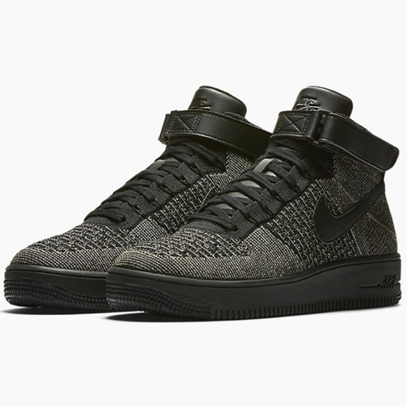best sneakers e0fc5 f4b8c Nike Air Force 1 Ultra Flyknit Mid Black Green NWT